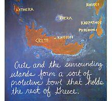 Crete and Surrounding Islands Photographic Print