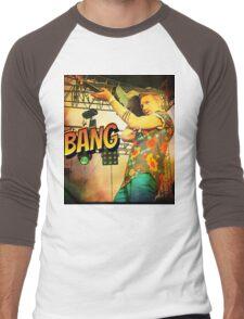 Chap Stique the Zombie Hunter Men's Baseball ¾ T-Shirt