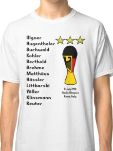 West Germany 1990 World Cup Final Winners Classic T-Shirt