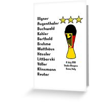 West Germany 1990 World Cup Final Winners Greeting Card