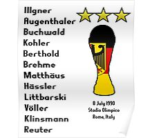 West Germany 1990 World Cup Final Winners Poster