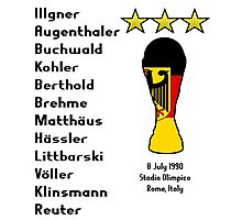 West Germany 1990 World Cup Final Winners Photographic Print
