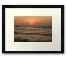 Sunset at La Union, Ilocos Region, Philippines Framed Print