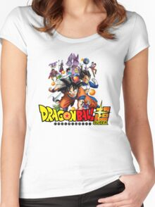 Dragon Ball Super Anime Icon Women's Fitted Scoop T-Shirt