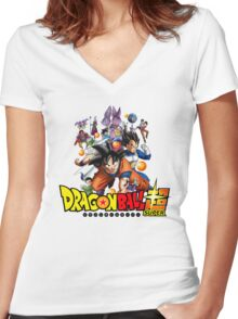 Dragon Ball Super Anime Icon Women's Fitted V-Neck T-Shirt
