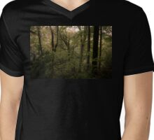 The moss covered tree Mens V-Neck T-Shirt