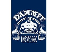 Dammit Gym Photographic Print