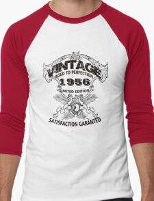 Birthday 60 1956 Vintage Aged to Perfection Limited Edition Men's Baseball ¾ T-Shirt