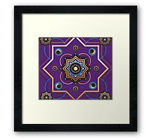 Moroccan Gold and Purple Pattern Framed Print