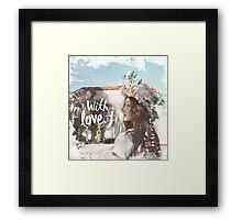Jessica - With Love J Framed Print