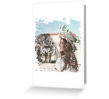 Jessica - With Love J Greeting Card
