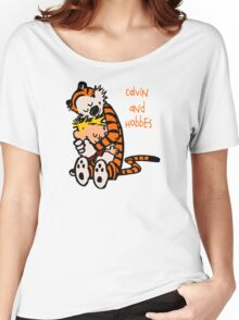 Calvin and Hobbes Comic Women's Relaxed Fit T-Shirt