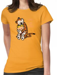 Calvin and Hobbes Comic Womens Fitted T-Shirt