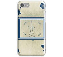French Eiffel Flowers iPhone Case/Skin