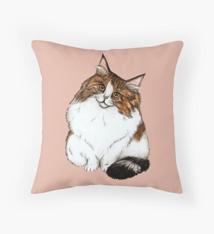 Norwegian Forest Cat Throw Pillow