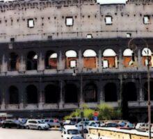 Battleground Of The Gladiator, Photo / Digital Painting  Sticker