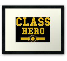 class hero Framed Print
