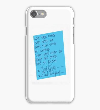 Grey's Anatomy - Post It  iPhone Case/Skin