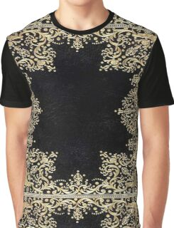 Black and Gold Filigree Graphic T-Shirt
