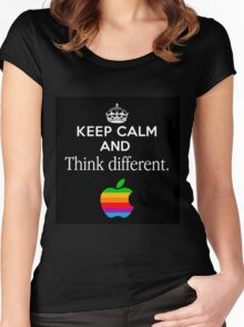 Keep Calm And Think Different Women's Fitted Scoop T-Shirt