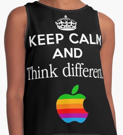 Keep Calm And Think Different Contrast Tank