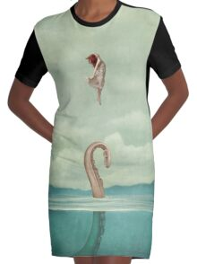 uncontained Graphic T-Shirt Dress