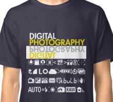 Digital Photography Camera Symbols Classic T-Shirt