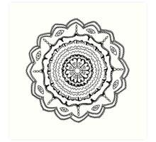 Evil Eye Mandala Art Print