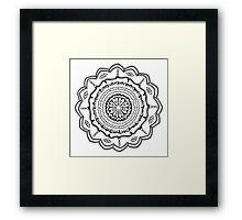 Evil Eye Mandala Framed Print