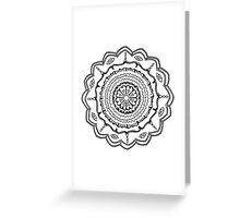 Evil Eye Mandala Greeting Card