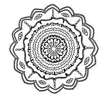 Evil Eye Mandala Photographic Print