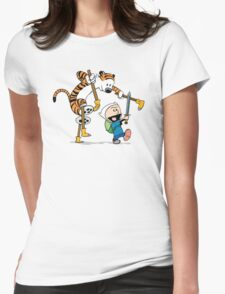hobbes and calvin time advanture Womens Fitted T-Shirt
