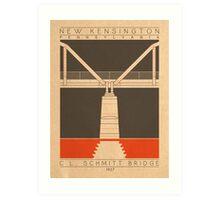 C.L. Schmitt Bridge - 1927 (Orange) Art Print
