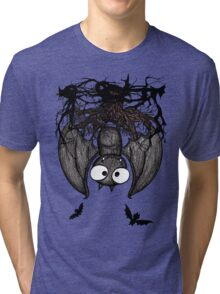 Happy Vampire Bat Tri-blend T-Shirt