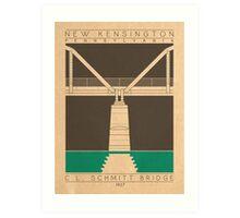 C.L. Schmitt Bridge - 1927 (Green) Art Print
