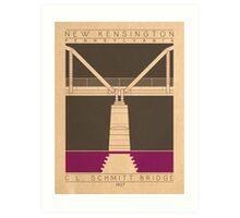 C.L. Schmitt Bridge - 1927 (Purple) Art Print