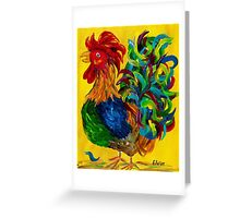 Plucky Rooster Greeting Card