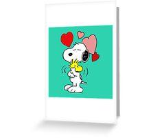 hug valentine snoopy peanut Greeting Card