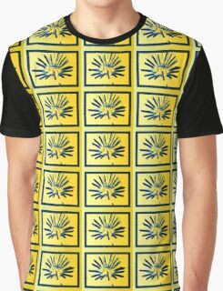 Yellow Starburst Graphic T-Shirt
