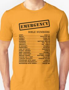 Emergency Bible Numbers Unisex T-Shirt