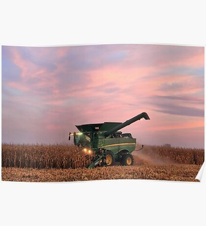 Combine and Sunset Poster