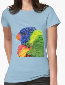 Rainbow Lorikeet Womens Fitted T-Shirt
