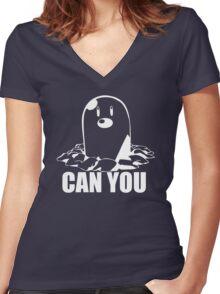 Diglett Pokemon Women's Fitted V-Neck T-Shirt