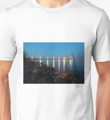 Hagnau Jetty at Night - Lake Constance Unisex T-Shirt