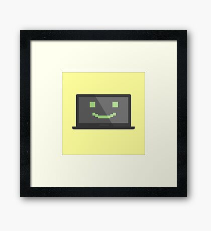 Simple laptop vector icon Framed Print