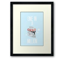 """one in a million"" tcw Framed Print"