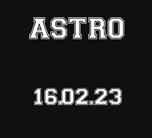 ASTRO debut date white lettering Zipped Hoodie