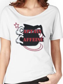 Captain Caffeine Coffee Humor Women's Relaxed Fit T-Shirt