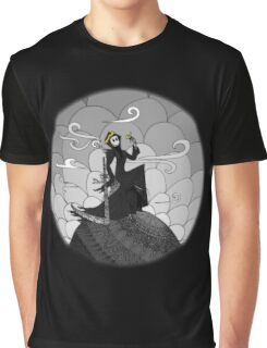 A not so grim Grim Reaper - BW Graphic T-Shirt