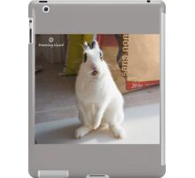 funny rabbit iPad Case/Skin